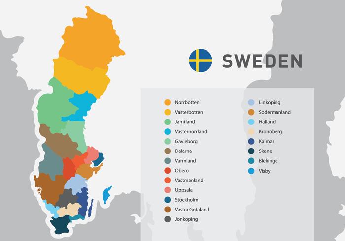 21 comtés de la Suède
